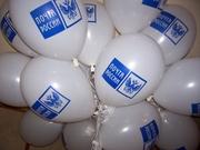 Печать логотипа на воздушных шарах(Новосибирск)