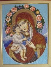 Продаются картины и иконы вышитые бисером