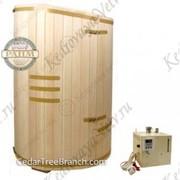 Комплект  фитобочка «Богатырь» овальный со скосом + парогенератор