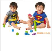 Qanui Bellne Бэтмен комбинезон младенца Romper стиль может открывать ф