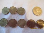 Коллекция монет 30 штук. Евро,  центы,  пенни. Испания,  Великобритания.